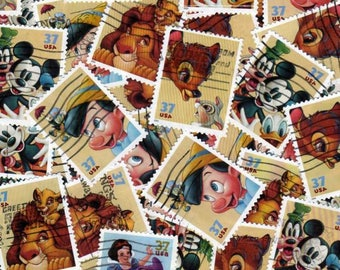 40 Animal Stamps, Stamps, Postage Stamps, Cartoon Stamps, US stamps, usa Stamps, United States Stamps, Stamp Collection