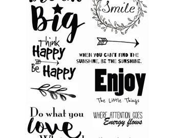 Inspirational Quotes Stamp Set