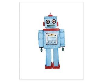 Vintage Toy Robot Art Print