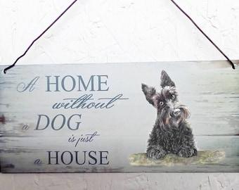 Scottie dog /  Scottish terrier Metal hanging sign