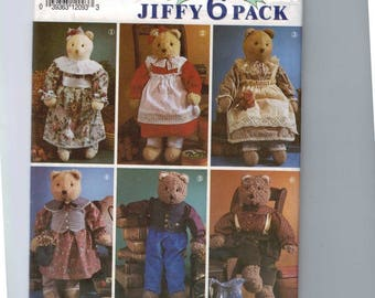 Craft Sewing Pattern Simplicity 7649 Stuffed Teddy Bear and Clothes Boy Girl Stuffed Animal UNCUT