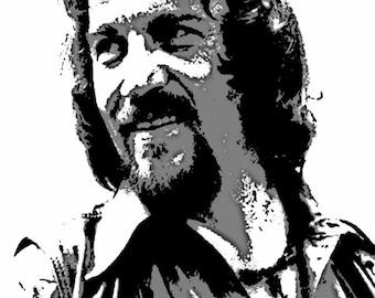 Waylon Jennings Art Print