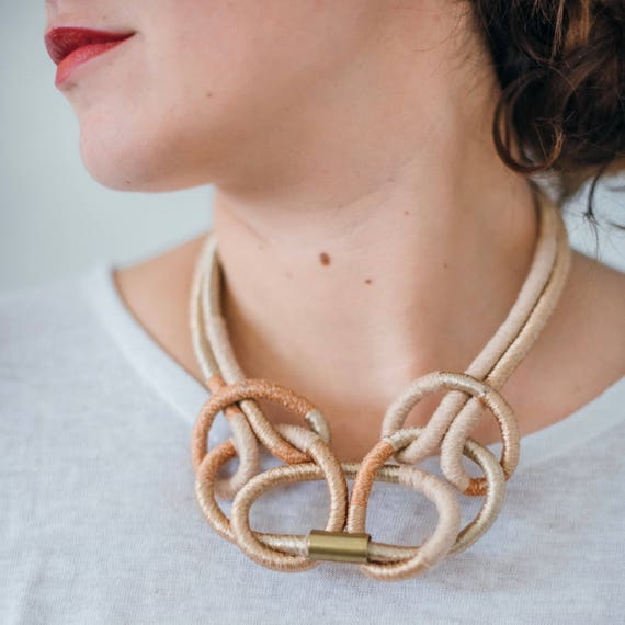 Butterfly Knot Textile Necklace