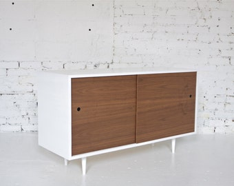 """50"""" Mid Century Modern Inspired Sideboard // Credenza // Bar or Record Cabinet"""