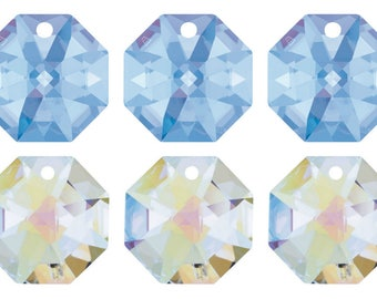 4 Swarovski Crystal 8115 Octagon Pendant 14mm Pick You Colour