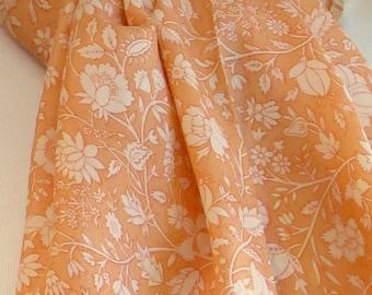 Peach Summer Scarf, Silk scarf