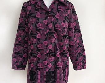 Vintage 70s Jacket, Retro Jacket, Boho Jacket, Floral Jacket, Handmade Jacket, Vintage Jacket, Hippie Jacket, Gypsy Coat