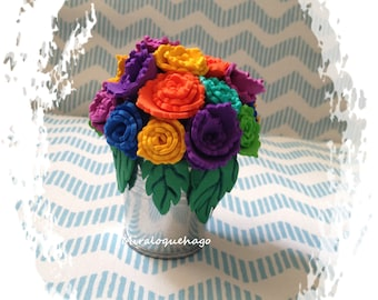 Potted flowers rubber eva