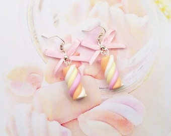 earrings marshmallows polymer clay