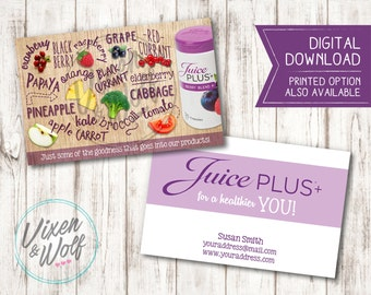 Invitation templates etsy uk juice plus juice promotional business cards advertising healthy living digital downloadable only reheart Image collections