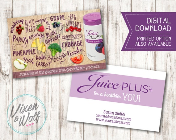 Juice plus juice promotional business cards advertising colourmoves
