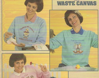 Momma Says in Waste Canvas Cross Stitch Book by Figi Graphics-- Book 4 -- Leisure Arts -- Leaflet 581