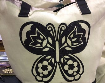 Canvas Tote Bag - Butterfly