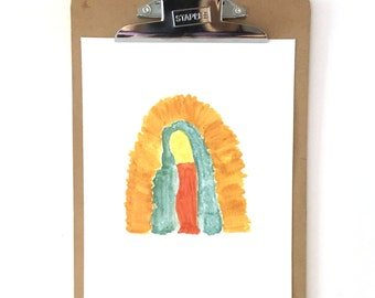 Our Lady of Guadalupe absract watercolor