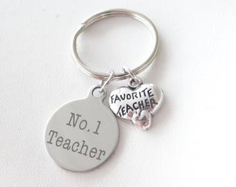 No 1 teacher, Teachers plant seeds of knowledge keychain, teacher appreciation, teacher gift, new teacher, teacher thank you