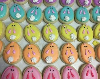 Pastel mini bunny cookies