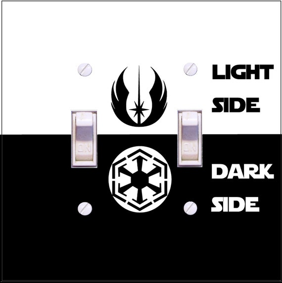 Star Wars Light Switch Cover Light Side Dark Side Jedi Or Sith