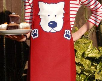 Childrens Westie Dog Apron