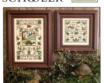 Tortoise & The Hare by Prairie Schooler Counted Cross Stitch Pattern/Chart