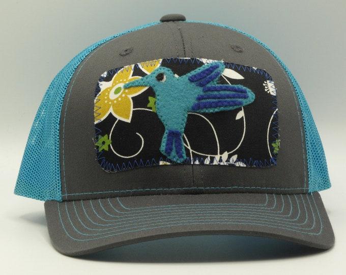 Blue Hummingbird Baseball/Trucker Hat