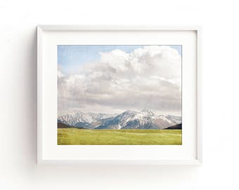 "mountain landscape, mountain wall art prints, large art, large wall art, large landscape wall art, mountain, nature prints - ""Mountain Time"""