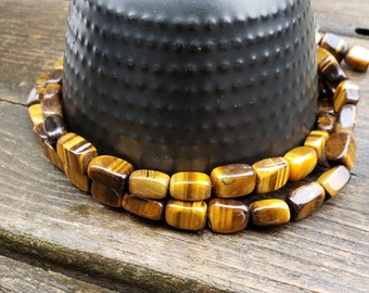 Tiger's Eye Rectangle Beads 6 mm