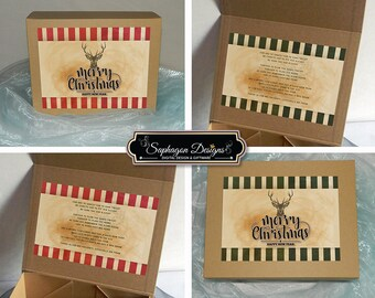 Rustic Christmas Gift Boxes, Personalised Christmas Gift Box, Christmas Gift Ideas