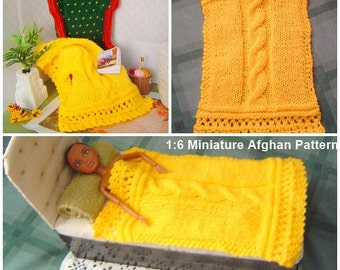 "0081 Fashion Doll Afghan Pattern 12"" - 17"" Dolls Play Scale by CarussDesignZ"