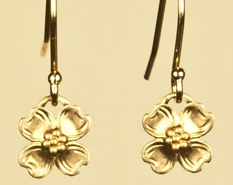 Vintage Dogwood Flower Earrings