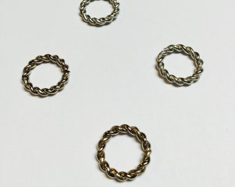 Jumbo Twisted Rope Jump Rings - 8 Pieces - #264