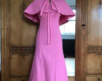 Jean Allen Bubblegum Pink Textured Dress & Capelet 8