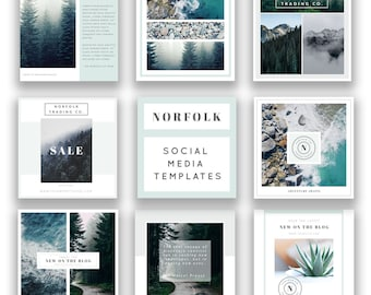 Social Media Templates for Photographers - Instagram Templates - Facebook Templates