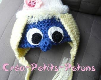 Beanie baby girl stroumfille knitting and crochet baby 100% original