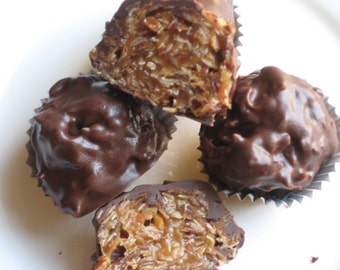 Chewy Caramel Coconut Delights, Bridal Shower, Baby Shower, Wedding Favors for all individually Wrapped or Boxed Great for Kids Tables