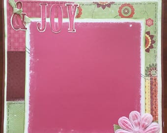 Joy and Happiness - 12 x 12 Premade Scrapbook Pages