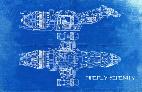 Firefly serenity blueprint art of firefly class technical firefly serenity blueprint art of firefly class technical drawings engineering drawings patent blue print art item 099 c malvernweather Choice Image