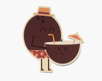 Cannibal Coconut Sticker
