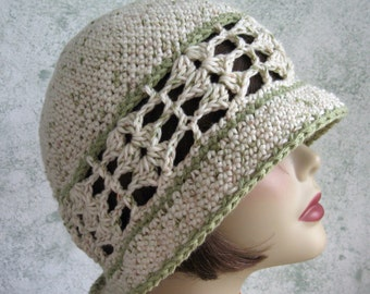 Womens Summer Crochet Hat Pattern Brimmed With Shell Stitch Band Instant Download Easy To Make May Sell Finished