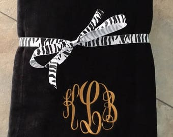Personalized Beach Towel Embroidered Monogrammed POOL