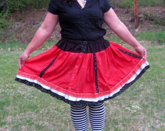 Fairytale Gothic Lolita Red Skirt