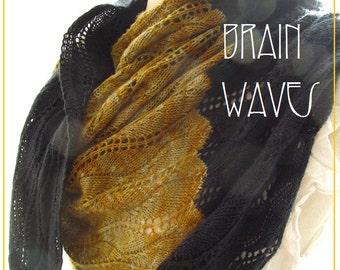 Brain Waves, a lace knitting pattern PDF