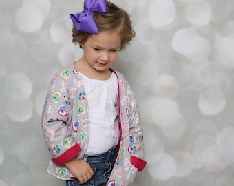 Knit Jacket, Knit Cardigan, Toddler Cardigan, Heart Cardigan, Valentine's Day Cardigan, Open Cardigan, Girls Cardigan, Toddler Clothing
