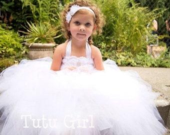 White Tutu Dress - Tutu Girl Original Design