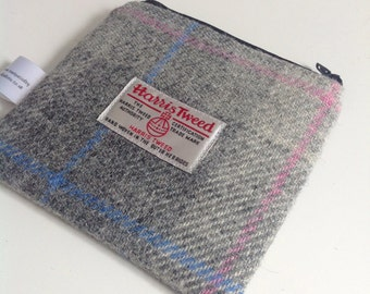 Harris tweed small coin purse / zip pouch / holder