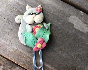 Clay Cat paperclip