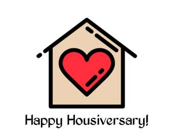Happy Housiversary Heart Cards - Realtors 1 Year House Anniversary Cards 20 pack with Envelopes