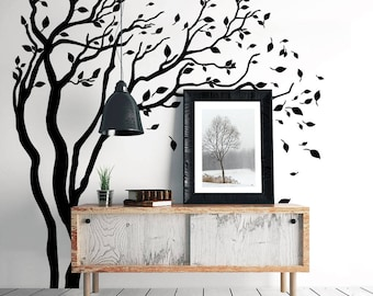 "01388 ""Morning wind"" Wall Stickers Decoration trees"
