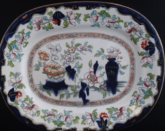 Fabulous 1850, English Platter, Oriental platter, we have more in our shop, china, porcelain, Outstanding colors wonderful gift idea #1986