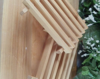Wood Soap Dish - Helps Extend Life of Soap