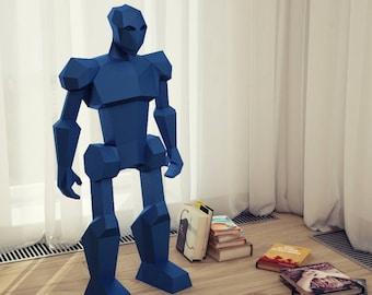 Papercraft Robot, 3D paper craft, DIY paper sculpture, Paper model, Papercraft PDF pattern kit, Pepakura Papermodels template Do it yourself